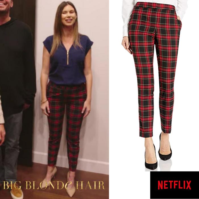 Maya Vander's Red and Black Plaid Pants