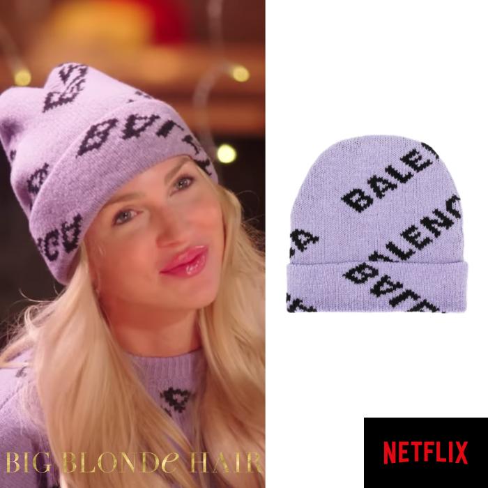 Christine Quinn's Purple Balenciaga Hat