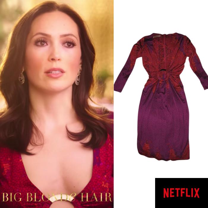 Davina Potratz's Red and Purple Printed Dress