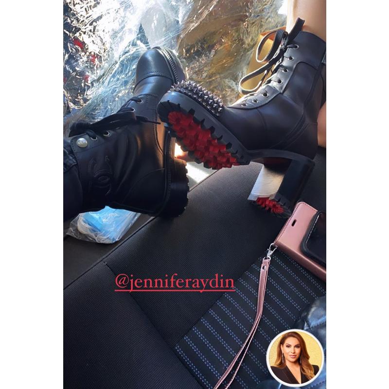 Jennifer Aydin's Black Spike Studded Boots