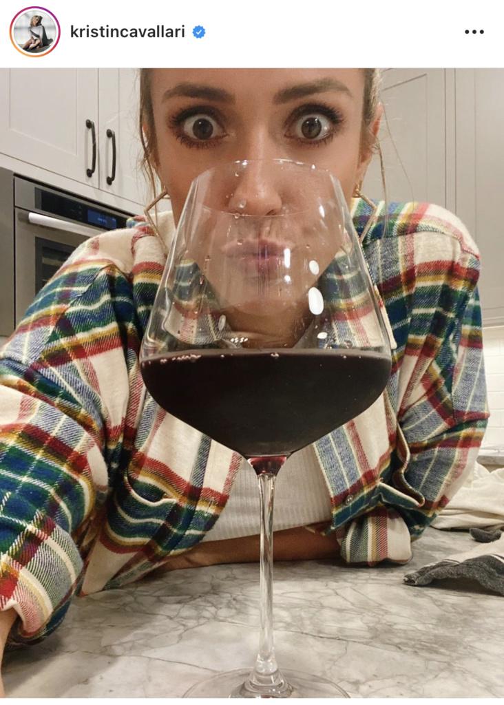Kristin Cavallari's Wine Glass on Instagram