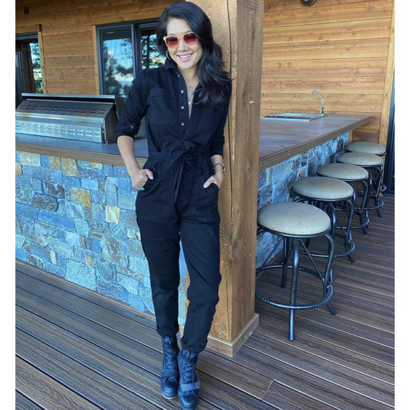 Crystal Kung Minkoff's Black Denim Jumpsuit