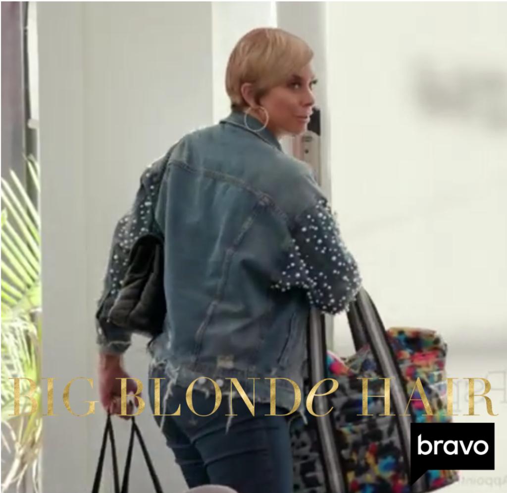 Robyn Dixon's Pearl Studded Jean Jacket