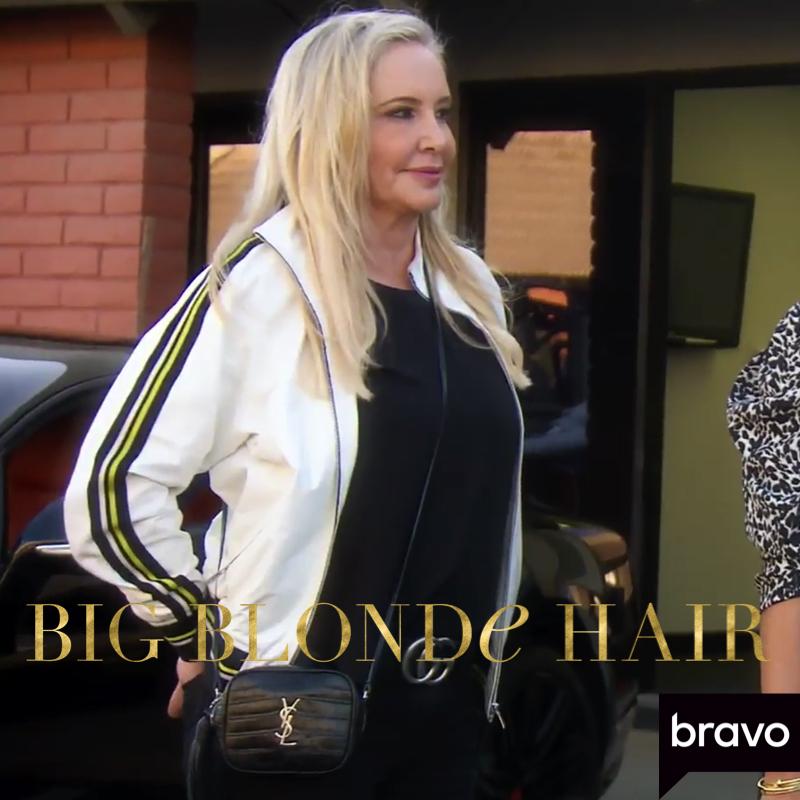 Shannon Beador's Black Crocodile Crossbody Bag