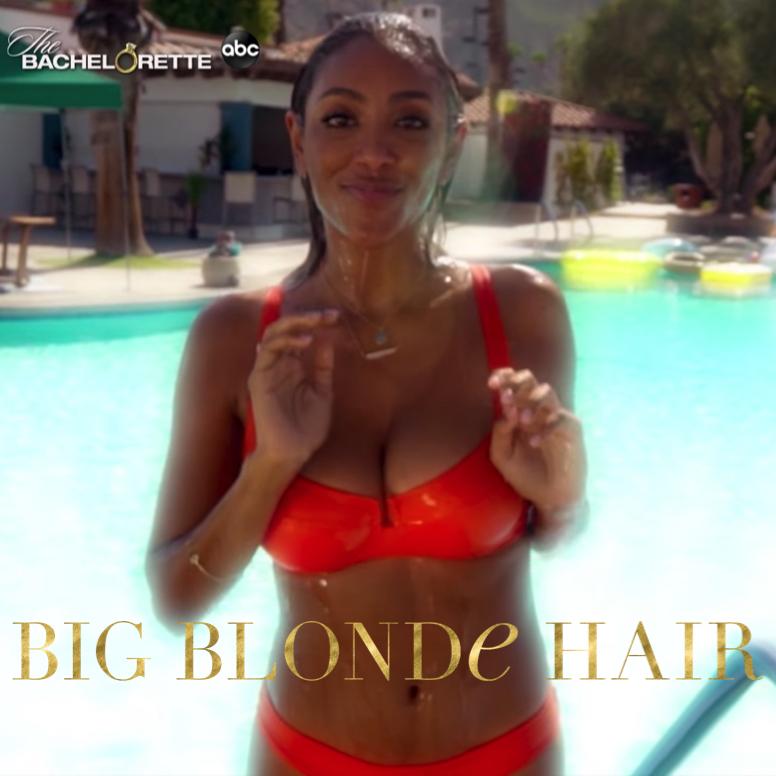Tayshia Adams' Orange Bikini