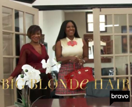 Kenya Moore's Tweed Dress