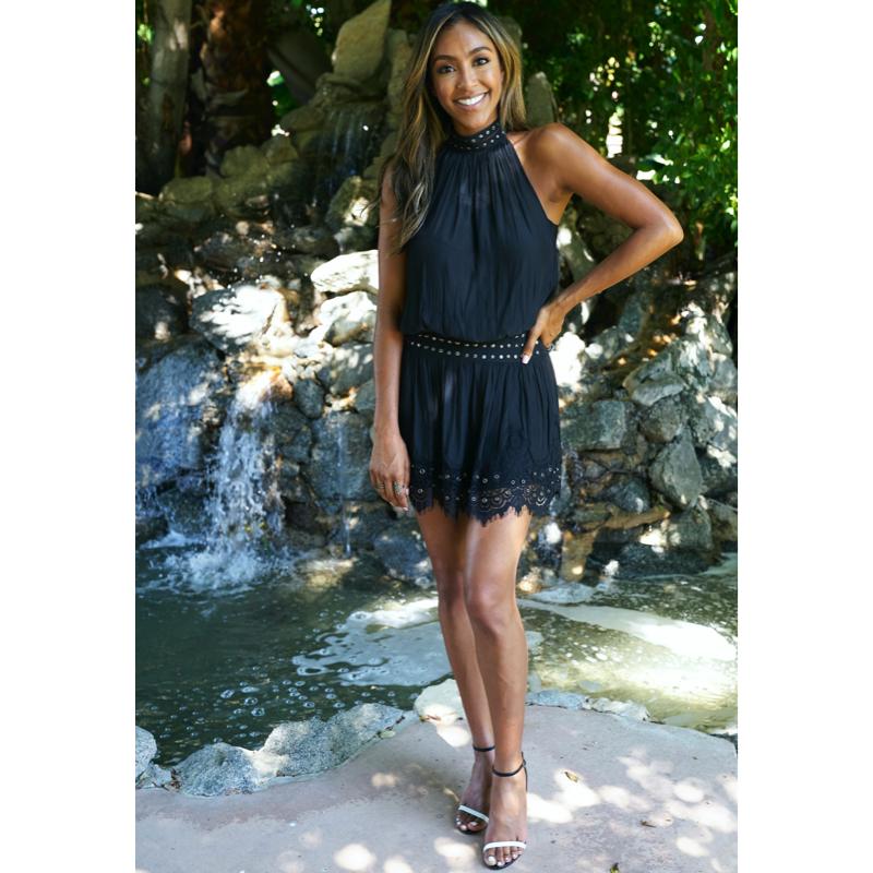 Tayshia Adams' Black Studded Dress