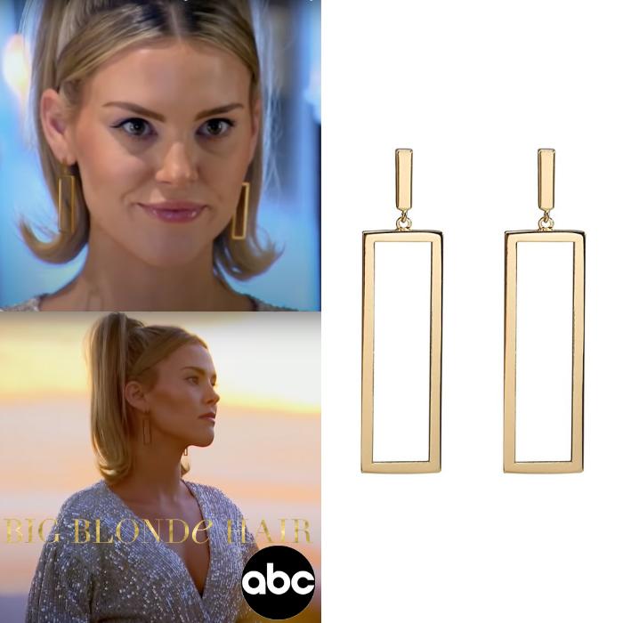 Anna Redman's Gold Rectangle Earrings