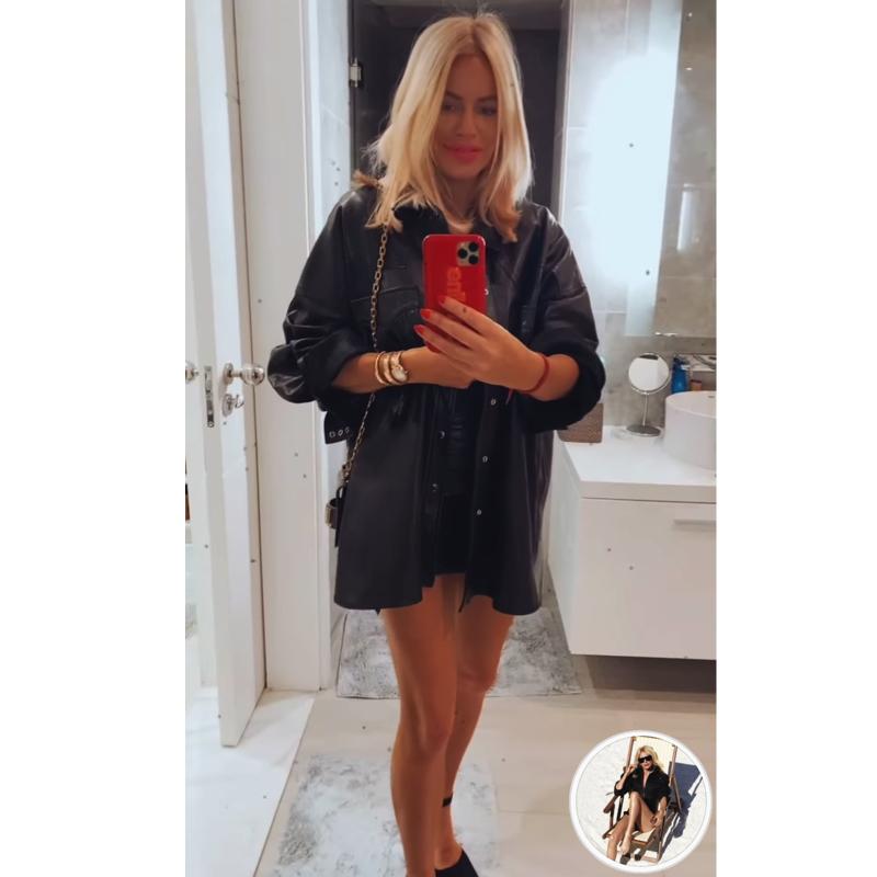 Caroline Stanbury's Black Leather Fringe Shirt