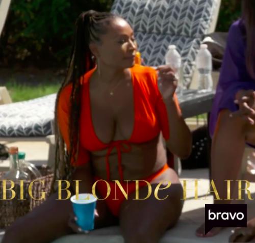 Cynthia Bailey's Red Short Sleeve Bikini
