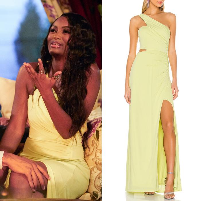 Khaylah Epps' Yellow One Shoulder Dress
