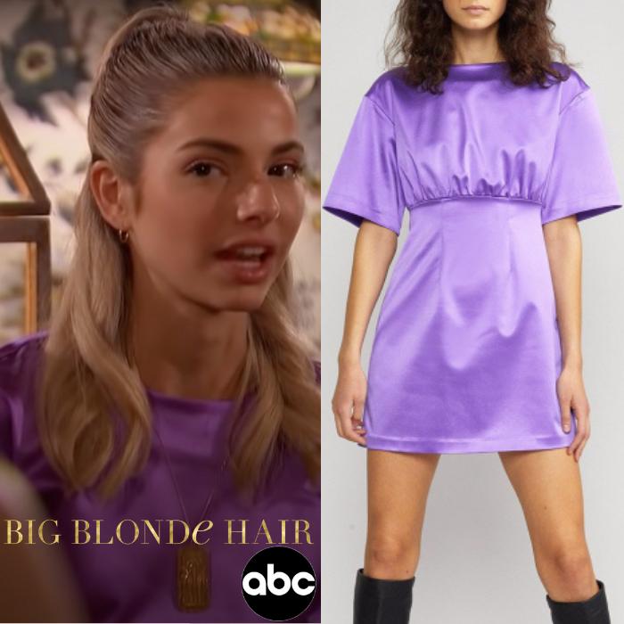 Kit Keenan's Purple Satin Dress