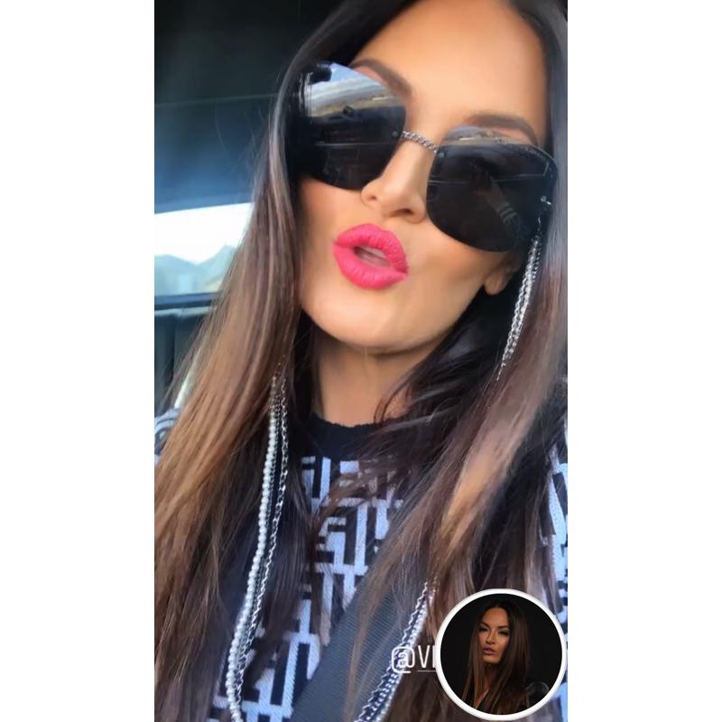 Lisa Barlow's Chain Sunglasses