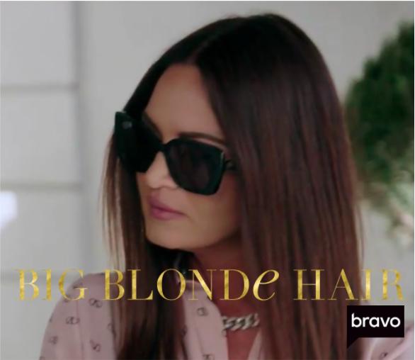 Lisa Barlow's Black Sunglasses in Las Vegas