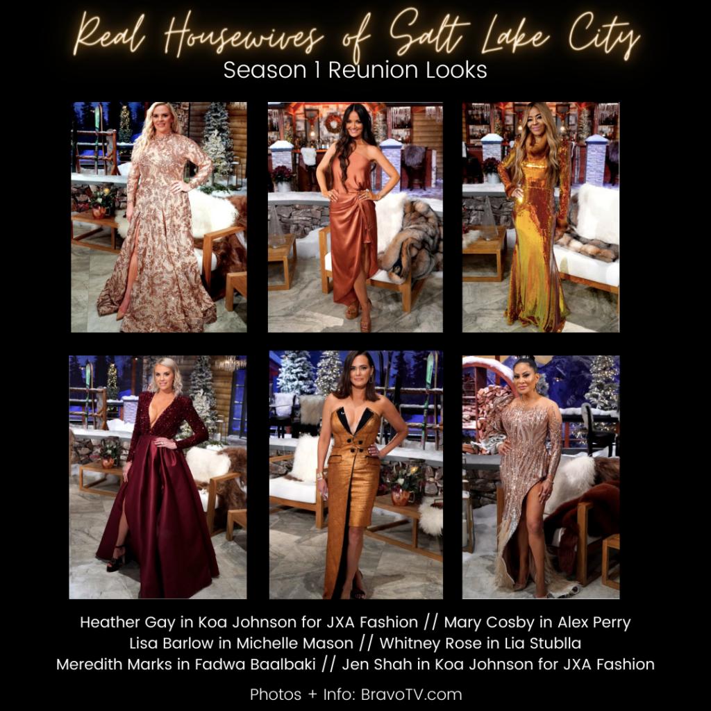 Real Housewives of Salt Lake City Season 1 Reunion Dresses