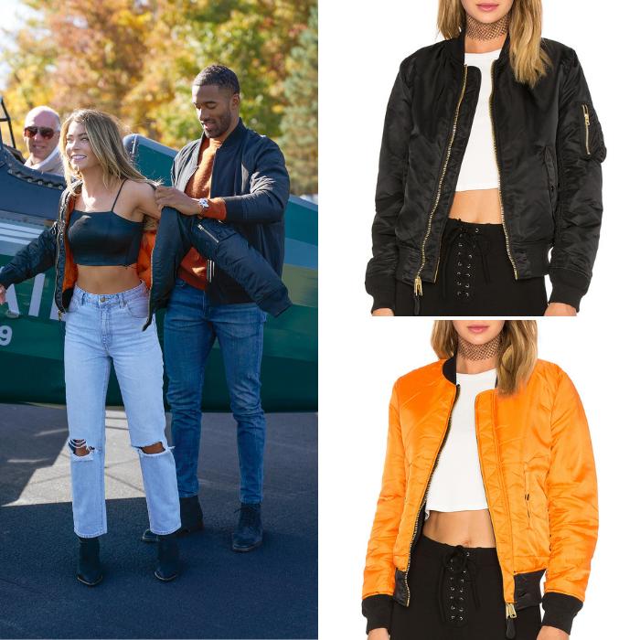 Sarah Trott's Black Bomber Jacket