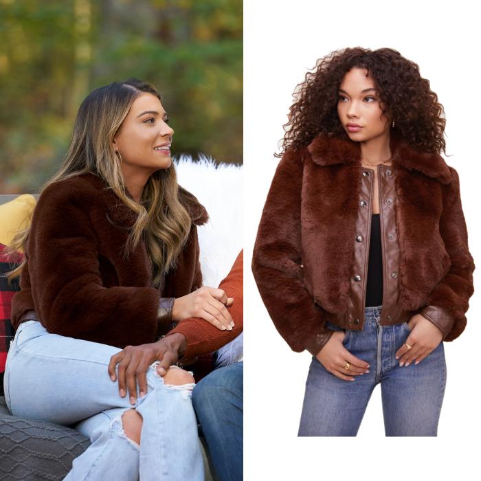 Sarah Trott's Brown Fur Jacket