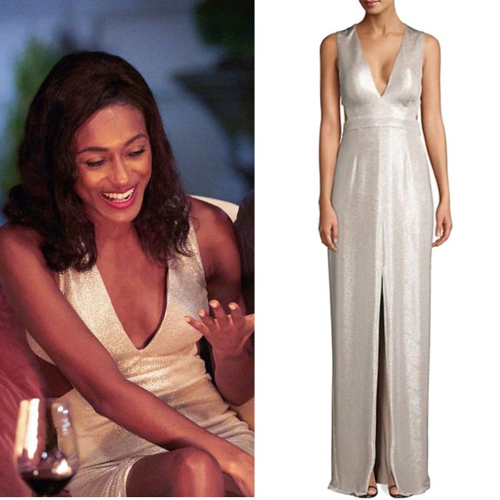 Sydney Johnson Metallic Cutout Dress