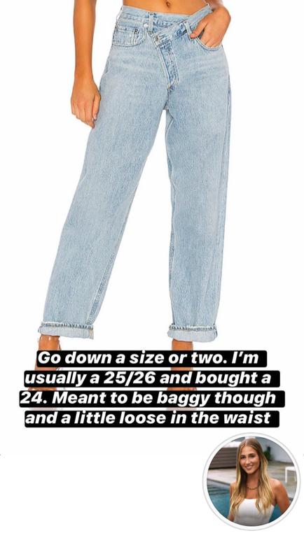 Amanda Batula's Asymmetrical Jeans