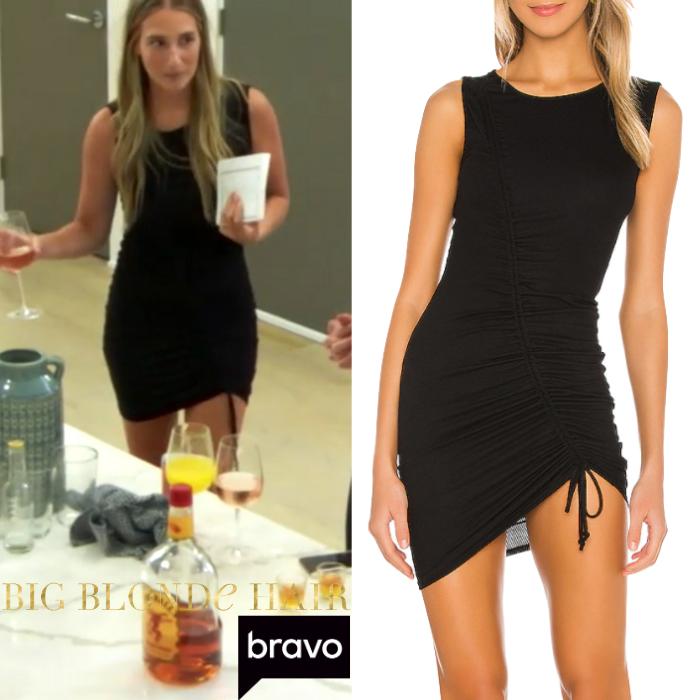 Amanda Batula's Black Ruched Dress