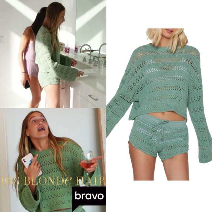 Amanda Batula's Green Crochet Lounge Set