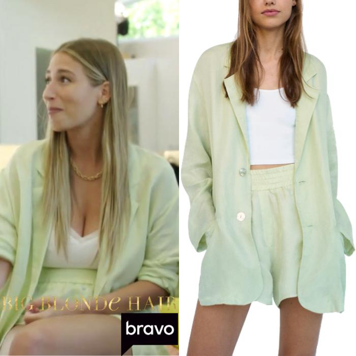 Amanda Batula's Light Green Short Suit