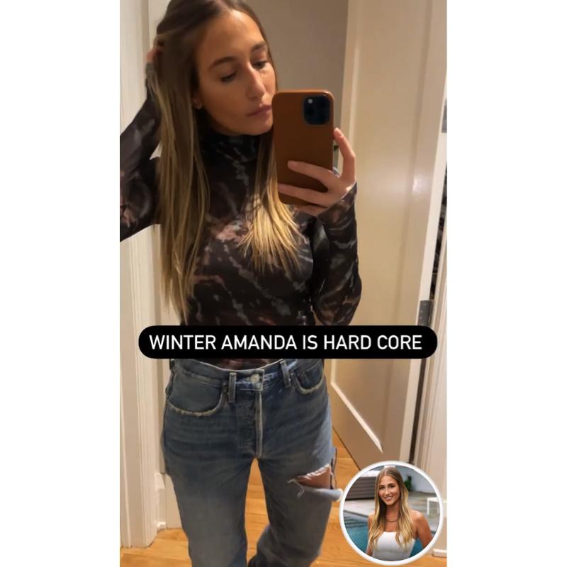 Amanda Batula's Tie Dye Turtleneck