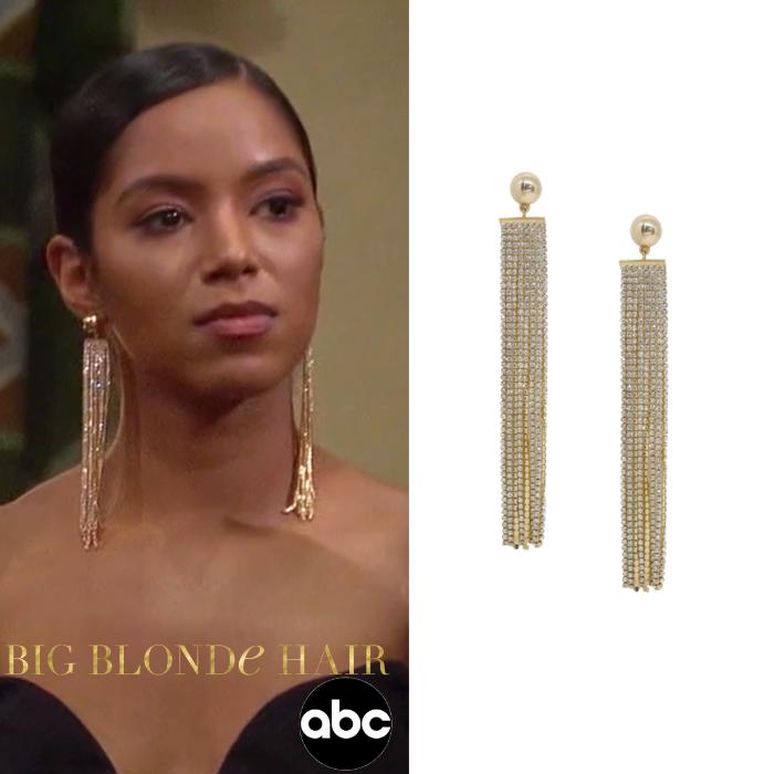 Bri Springs' Crystal Fringe Earrings