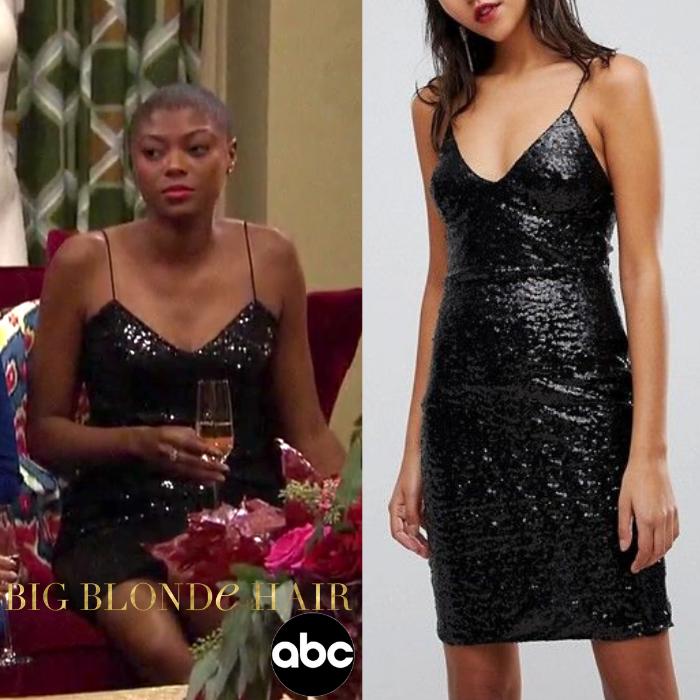 Chelsea Vaughn's Black Sequin Dress