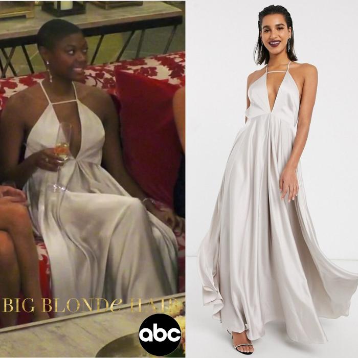 Chelsea Vaughn's Grey Cutout Gown