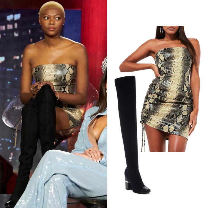Chelsea Vaughn's Snake Print Dress