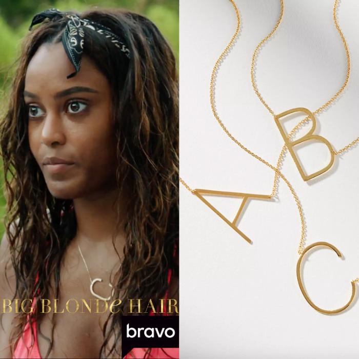 Ciara Miller's C Initial Necklace