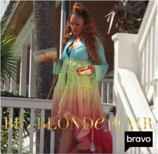 Drew Sidora's Rainbow Cover Up Dress