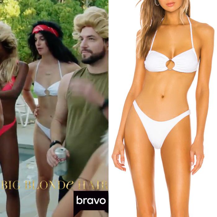 Hannah Berner's White Bikini