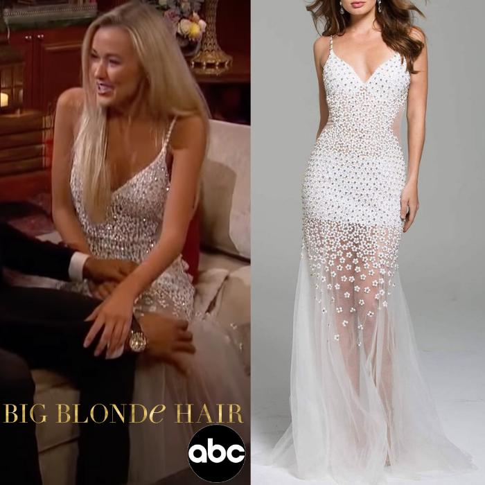 Heather Martin's White Beaded Dress