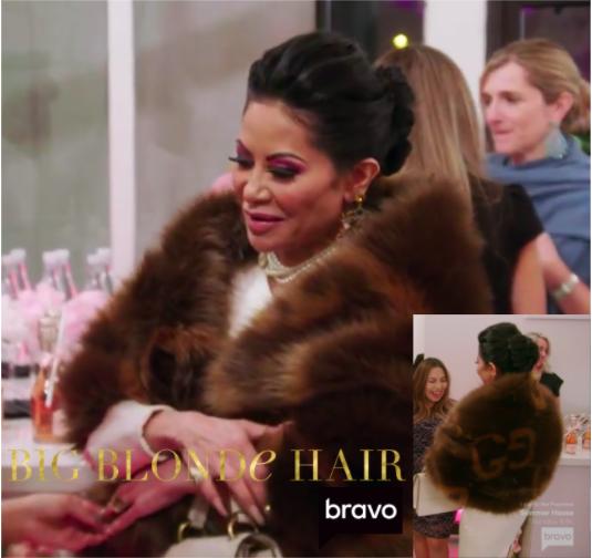 Jen Shah's Brown Faux Fur Stole
