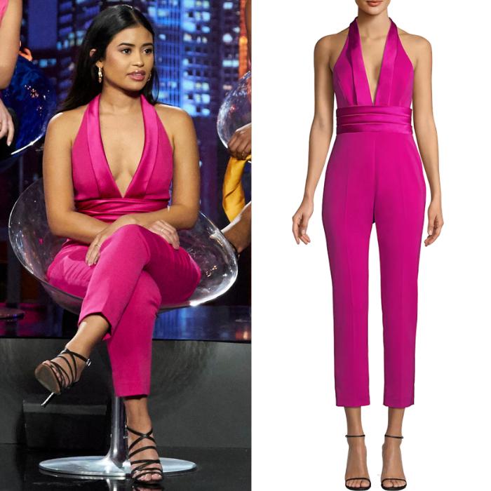 Jessenia Cruz's Pink Halter Jumpsuit