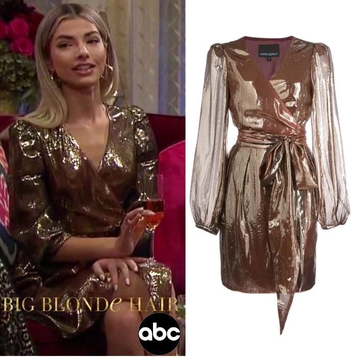 Kit Keenan's Gold Metallic Dress