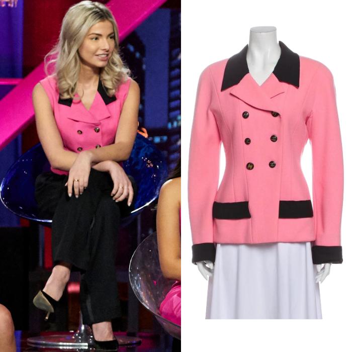 Kit Keenan's Pink and Black Sleeveless Blazer