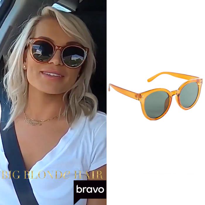 Lindsay Hubbard's Amber Round Sunglasses