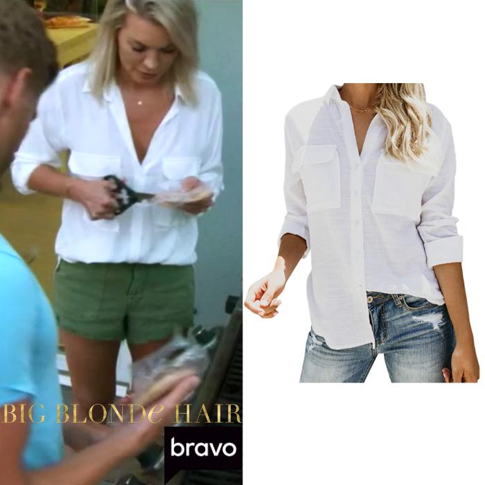 Lindsay Hubbard's White Button Down Shirt