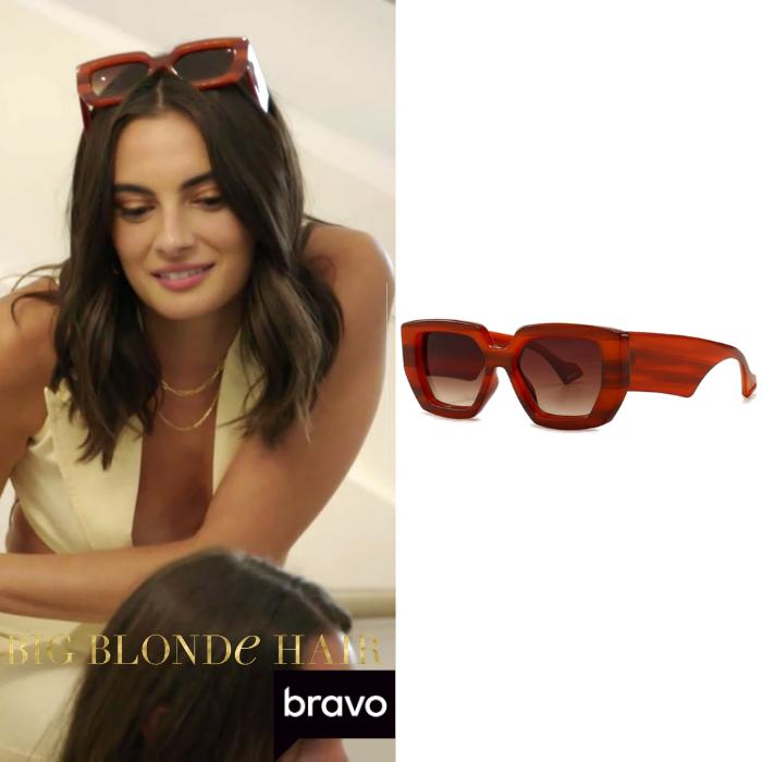 Paige DeSorbo's Auburn Rectangle Sunglasses