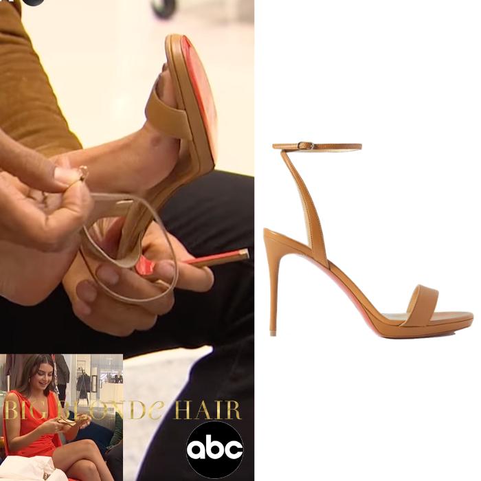 Rachael Kirkconnell's Tan Heeled Sandals