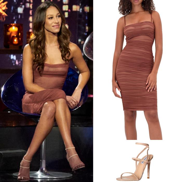 Serena Pitt's Brown Ruched Dress