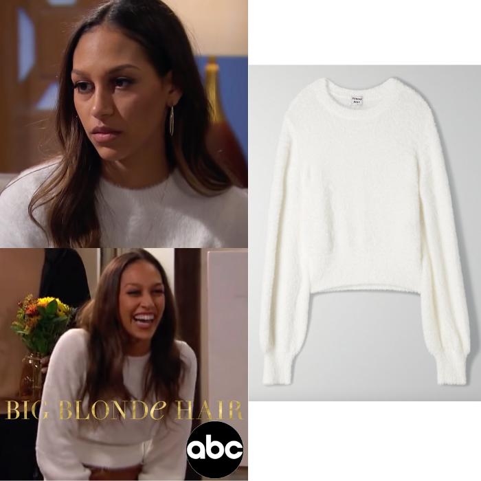 Serena Pitt's White Sweater