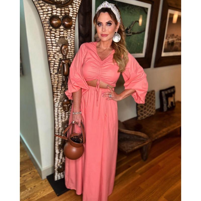 D'Andra Simmons' Coral Cutout Dress