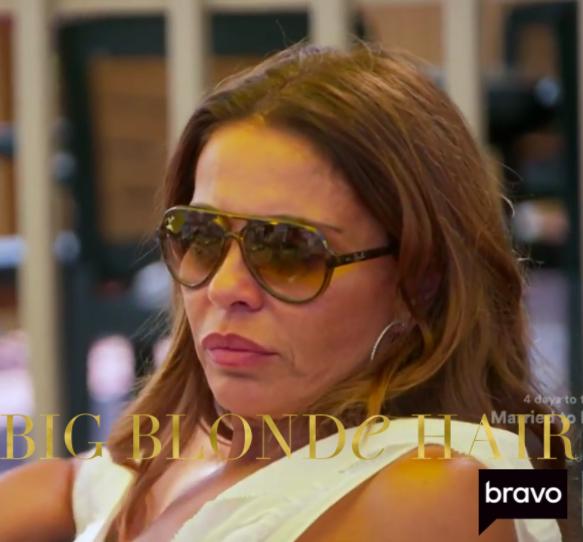 Dolores Catania's Brown Aviator Sunglasses
