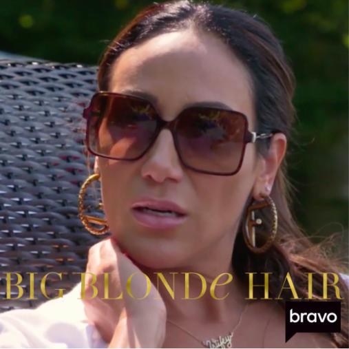 Melissa Gorga's Brown Square Sunglasses