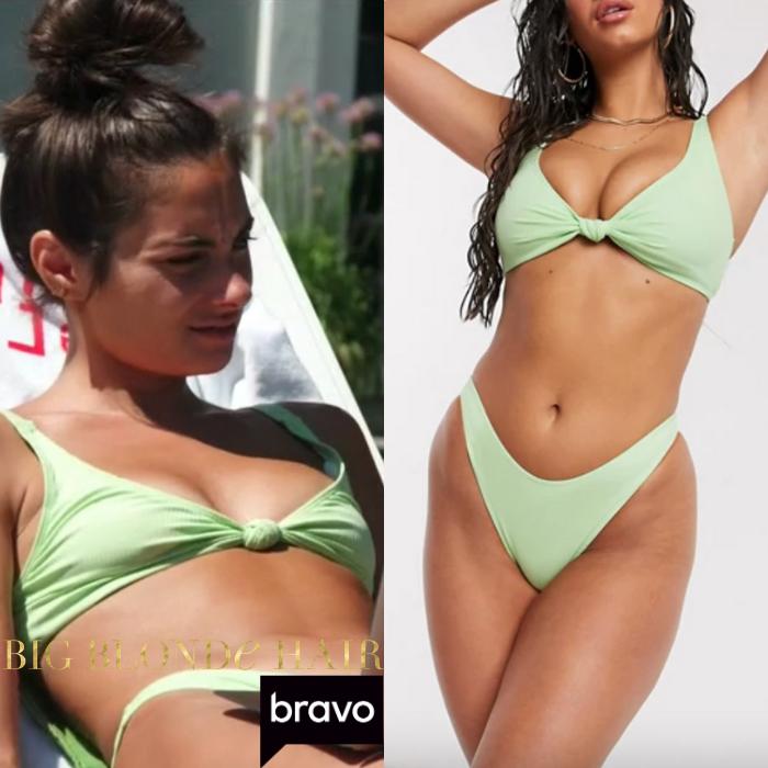 Paige DeSorbo's Green Knot Front Bikini