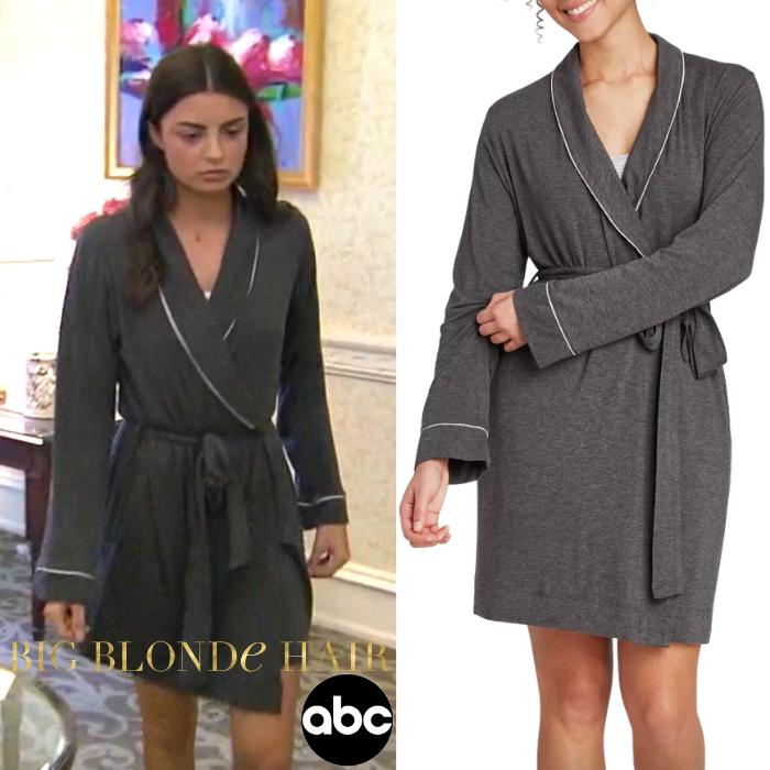 Rachael Kirkconnell's Grey Robe